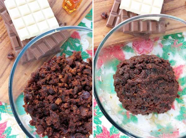 making-christmas-pudding-truffles