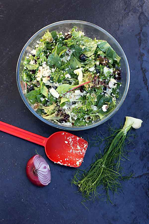 Blueberry, fennel & feta quinoa salad