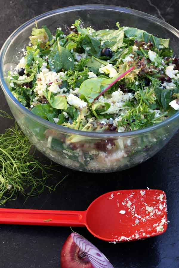 Blueberry, fennel & feta quinoa salad
