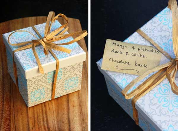 a homemade chocolate gift