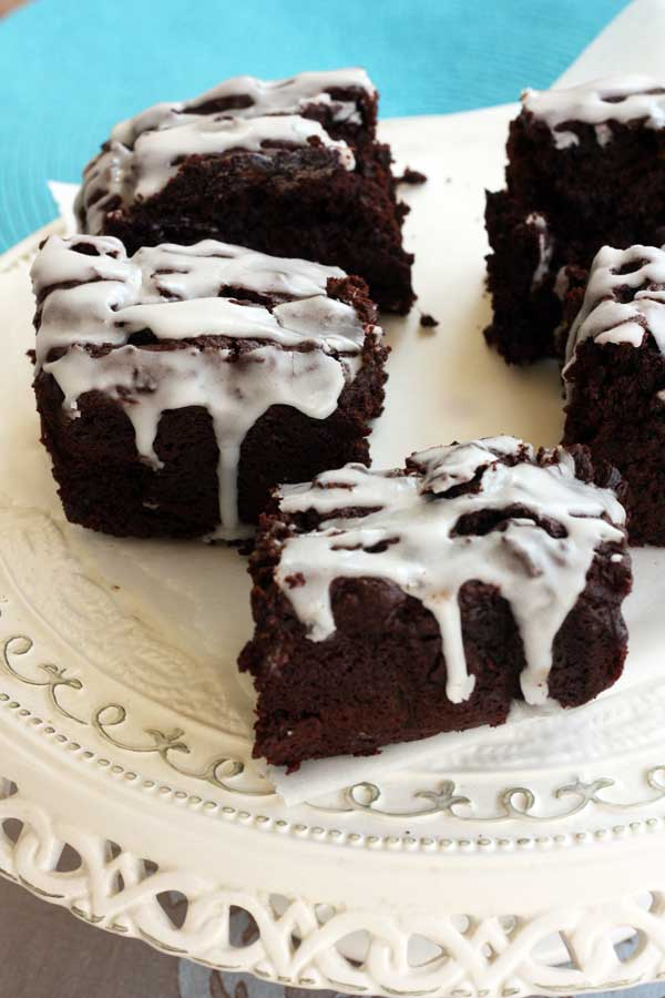 beetroot & ginger brownies