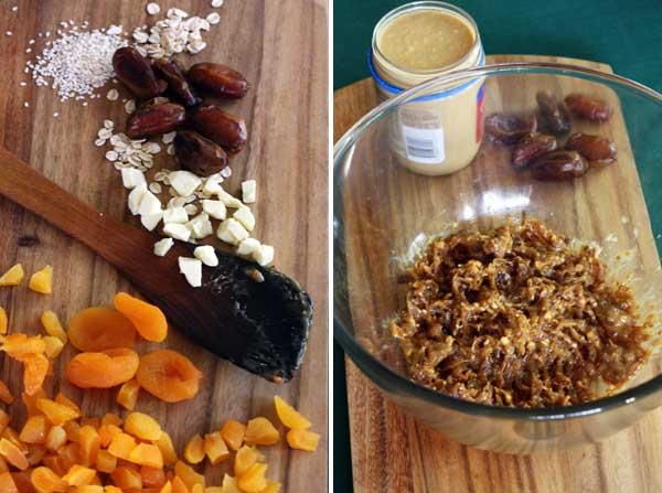 Making no-bake granola bars