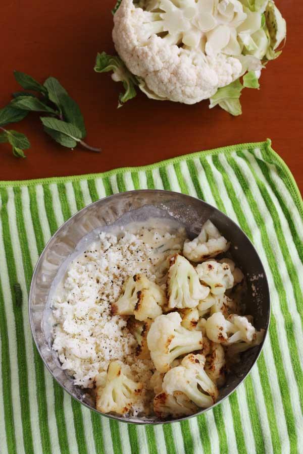 making cauliflower fritters