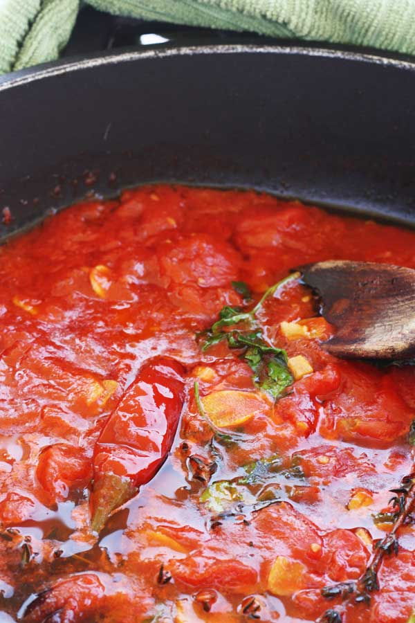 Making marinara sauce