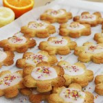 Iced citrus Shrewsbury biscuits