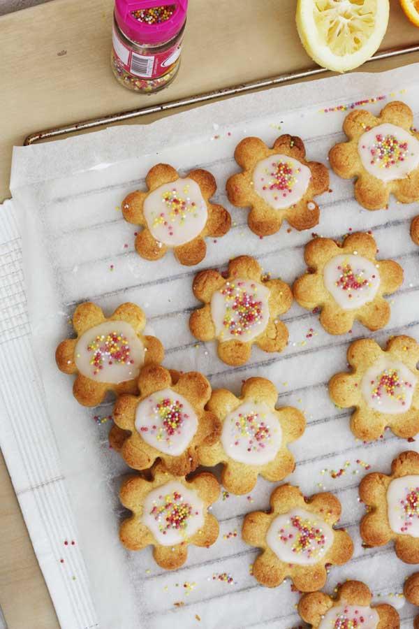 Iced citrus Shrewsbury biscuits