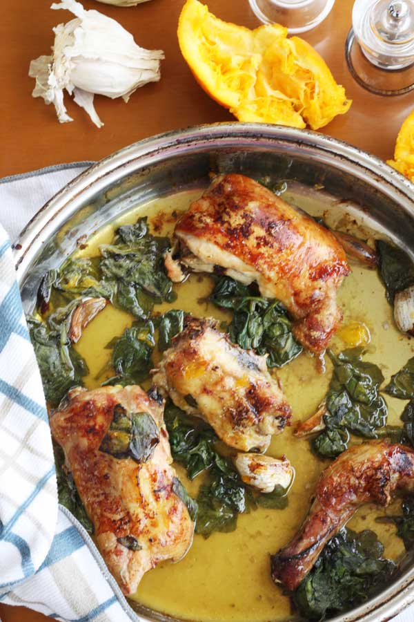 Maple, orange & spinach chicken from scrummylane.com