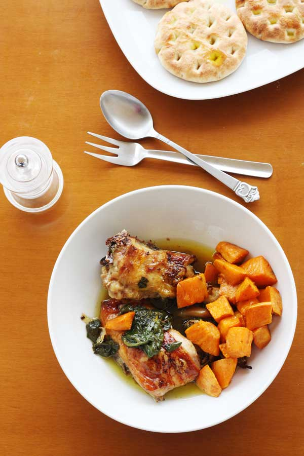 Easy mid-week mealmaple, orange  spinach chickenScrummy Lane