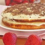 White chocolate, coconut & lime truffle cake