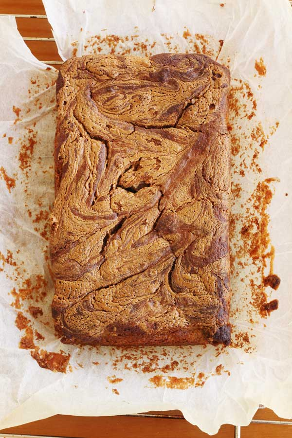 Banana, chocolate & peanut butter are a match made in heaven. Banana, chocolate & peanut butter swirl cake by Scrummy Lane
