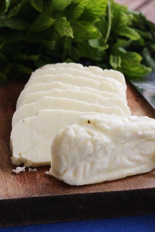 Halloumi cheese ready to cook