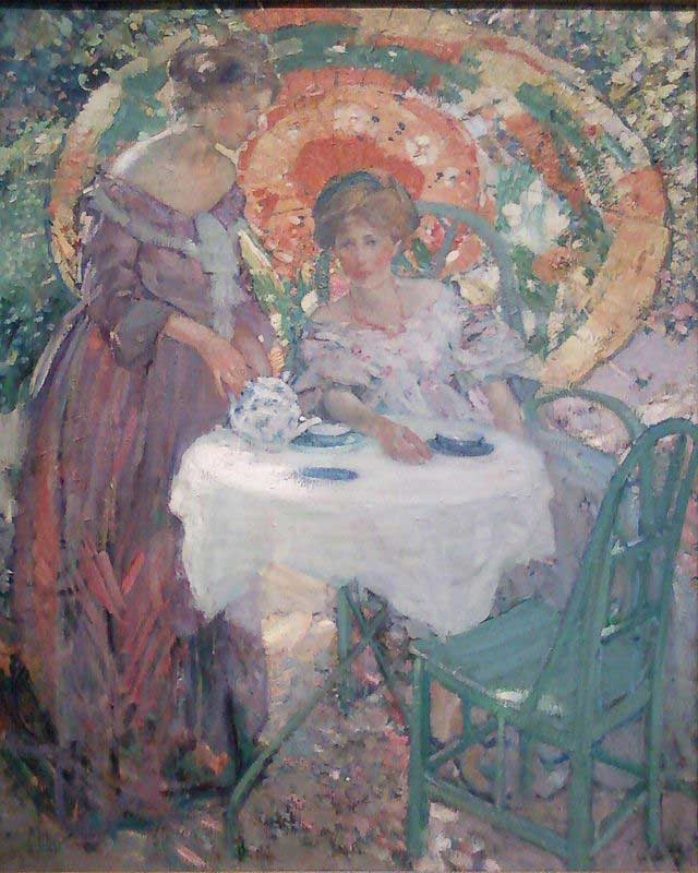 Afternoon Tea by Richard Emil Miller