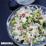 Broccoli, bacon & apple salad