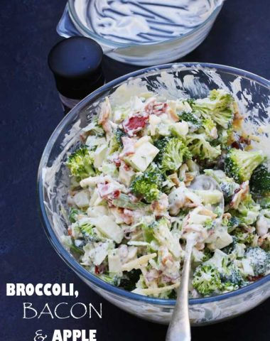 Broccoli, bacon & apple salad by Scrummy Lane