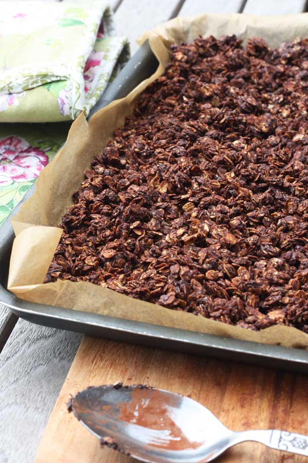 Never buy sugar-laden granola again! Chocolate granola from Scrummy Lane.