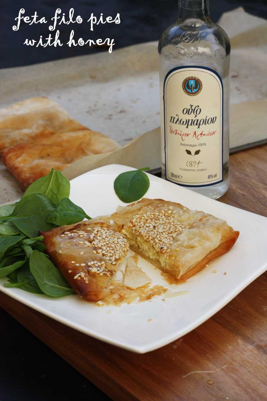 Feta filo pies with honey by Scrummy Lane