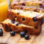 Sticky lemon curd & blueberry cake