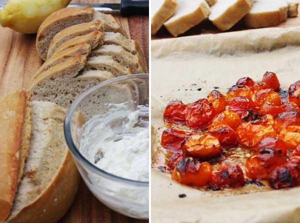roasted tomatoes for bruschetta