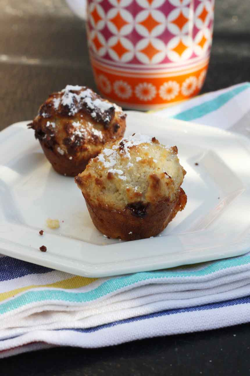Little Nutella-stuffed apricot friands by Scrummy Lane