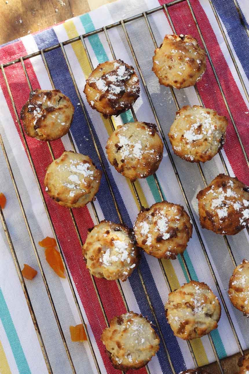 Nutella-stuffed apricot friands by Scrummy Lane