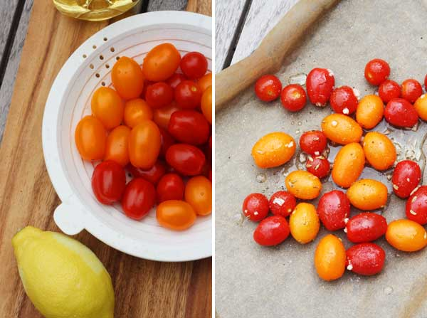 a variety of small tomatoes