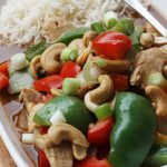 CHICKEN WITH PEPPERS & CASHEW NUTS BY SCRUMMY LANE