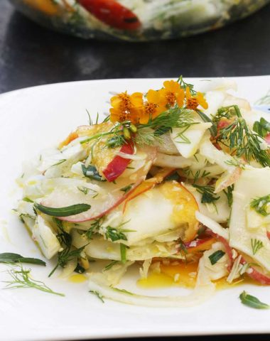 Fennel, peach and parmesan salad by Scrummy Lane