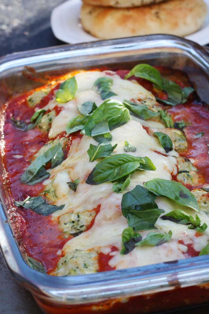 Turkey and zucchini 'parmigiana' by Scrummy Lane