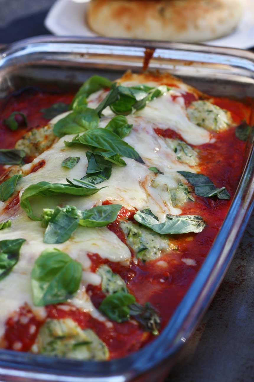 Turkey and zucchini 'parmigiana' by Scrummy Lane
