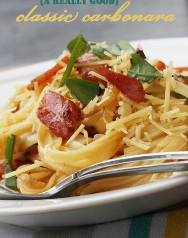 A really good classic pasta carbonara