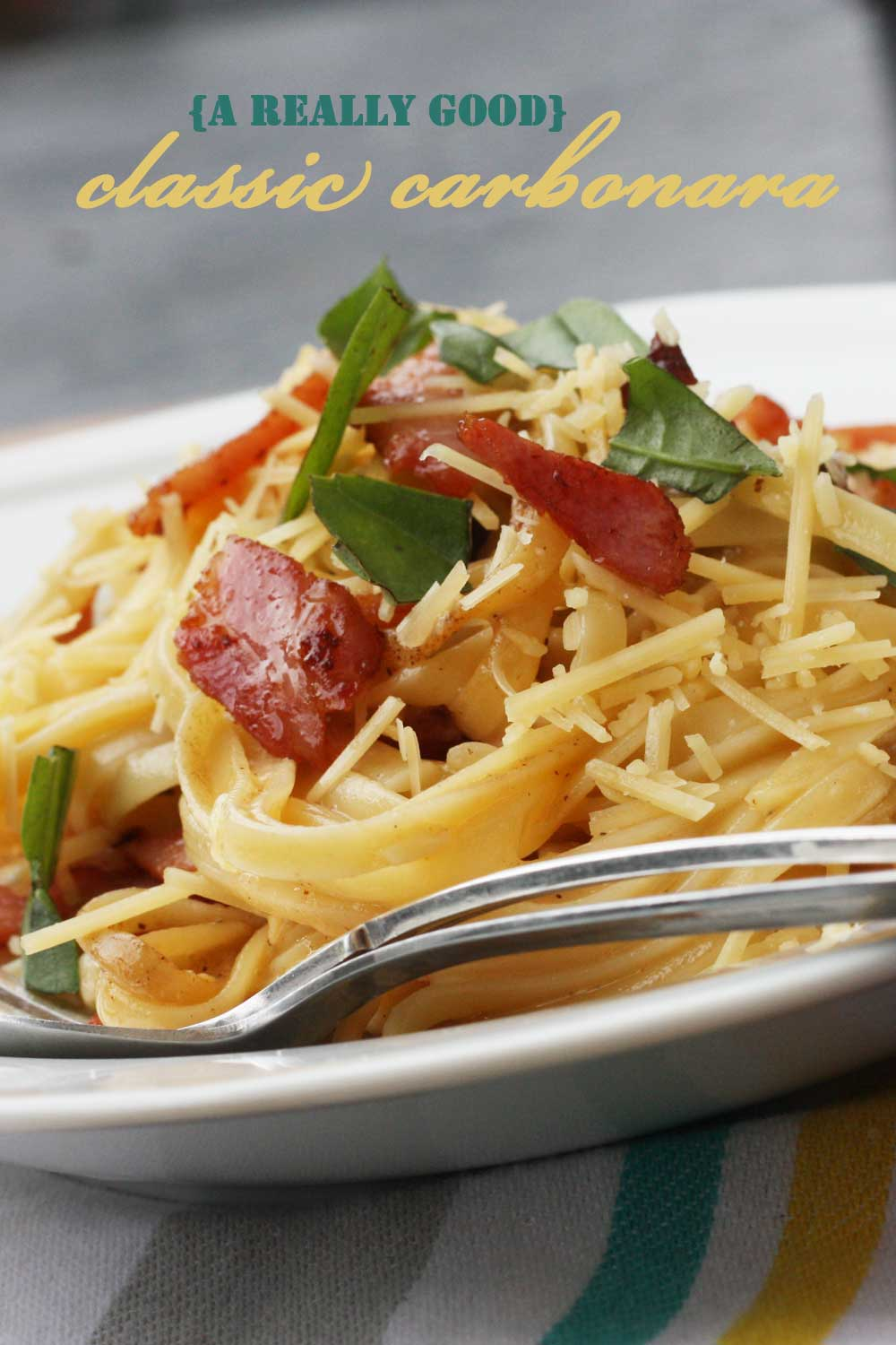 A REALLY GOOD CLASSIC CARBONARA BY SCRUMMY LANE