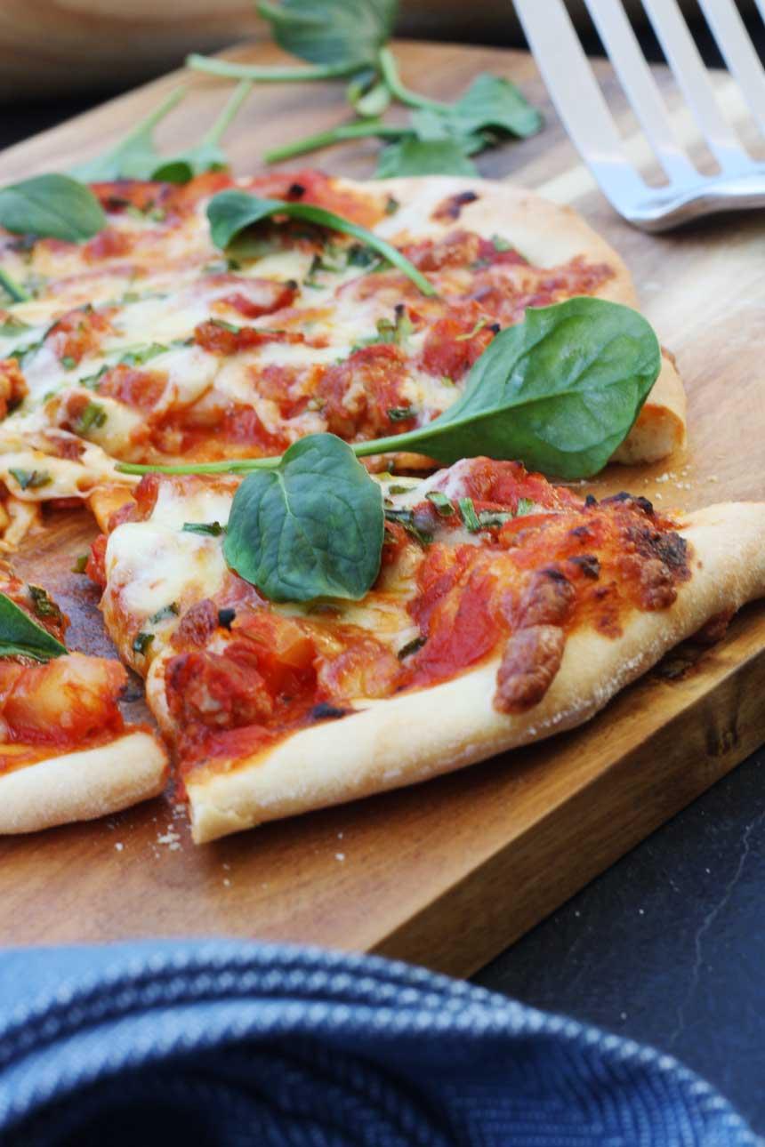 sausage & fennel pizza by Scrummy Lane
