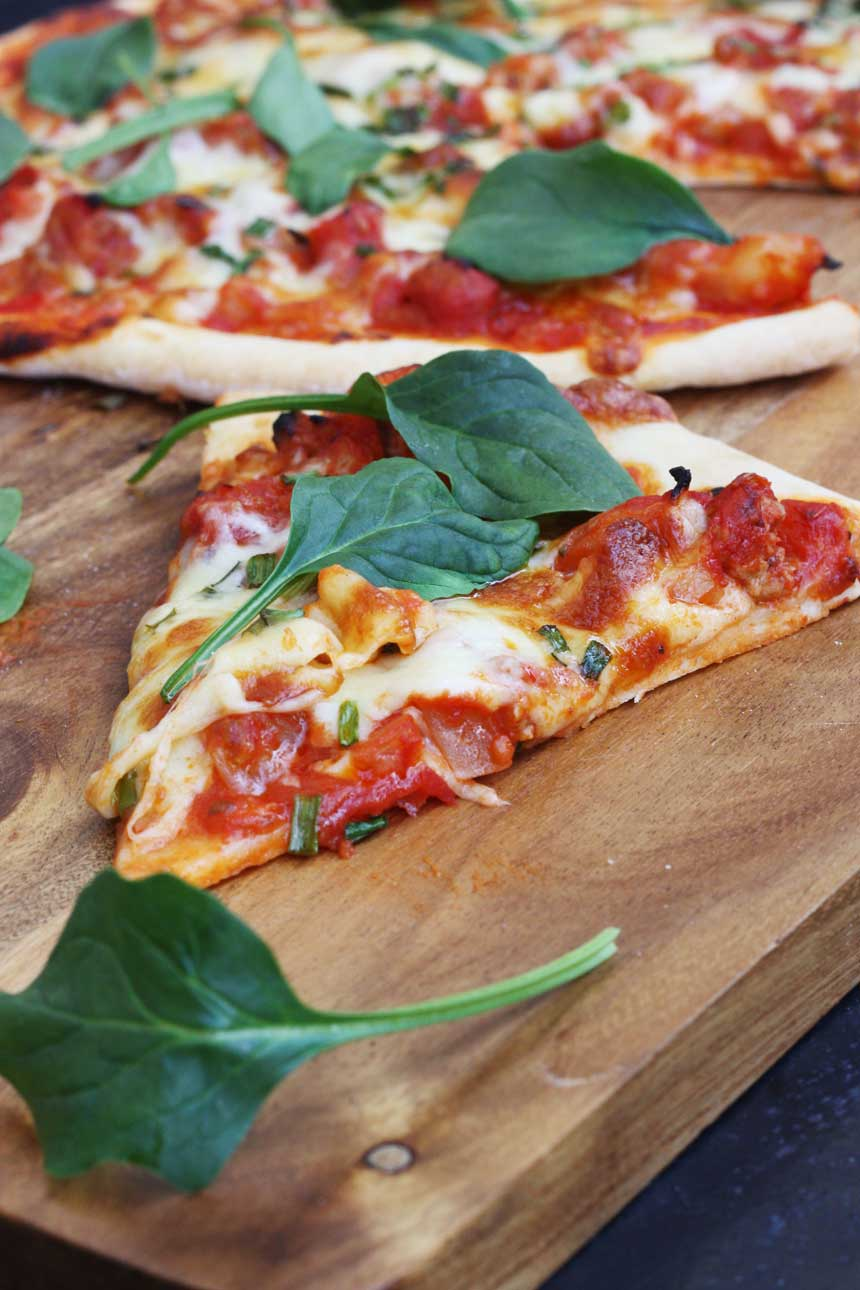 sausage & fennel pizza