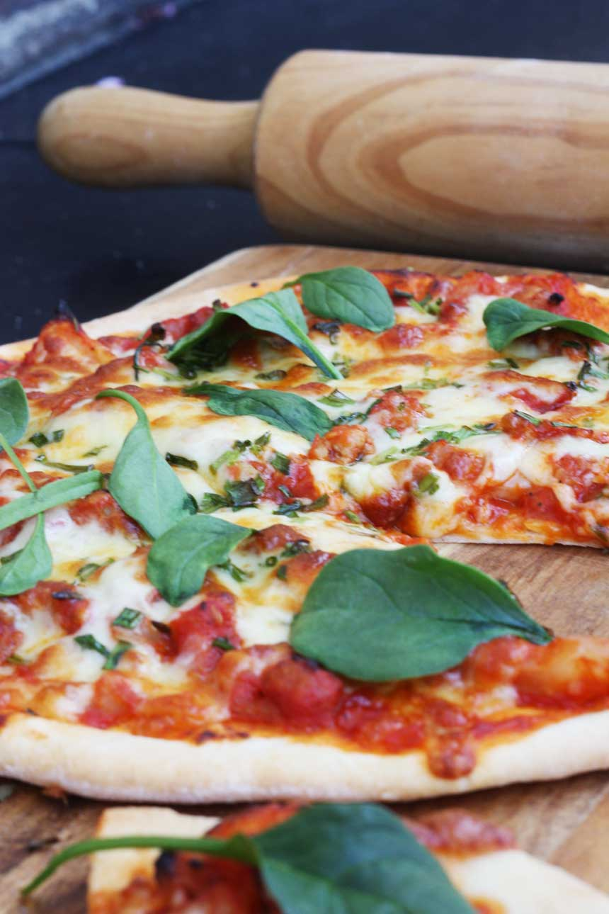 sausage & fennel pizza by Scrummy Lane