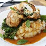 Feta & sundried tomato stuffed chicken with lemon butter gravy