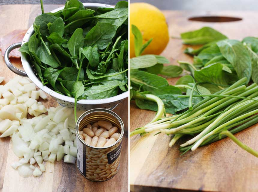 MAKING SPINACH SOUP