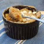 5 minute individual banana & peanut butter pudding