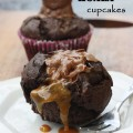 chocolate caramel koala 'self-saucing' cupcakes for two