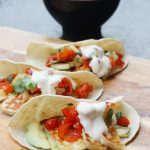 Halloumi & pineapple salsa tacos