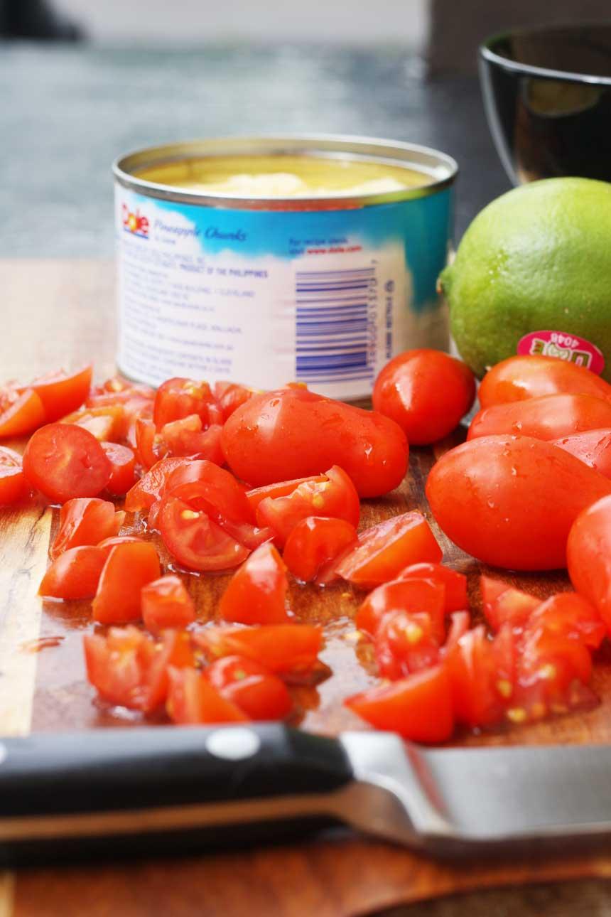 Halloumi & pineapple salsa tacos - Scrummy Lane