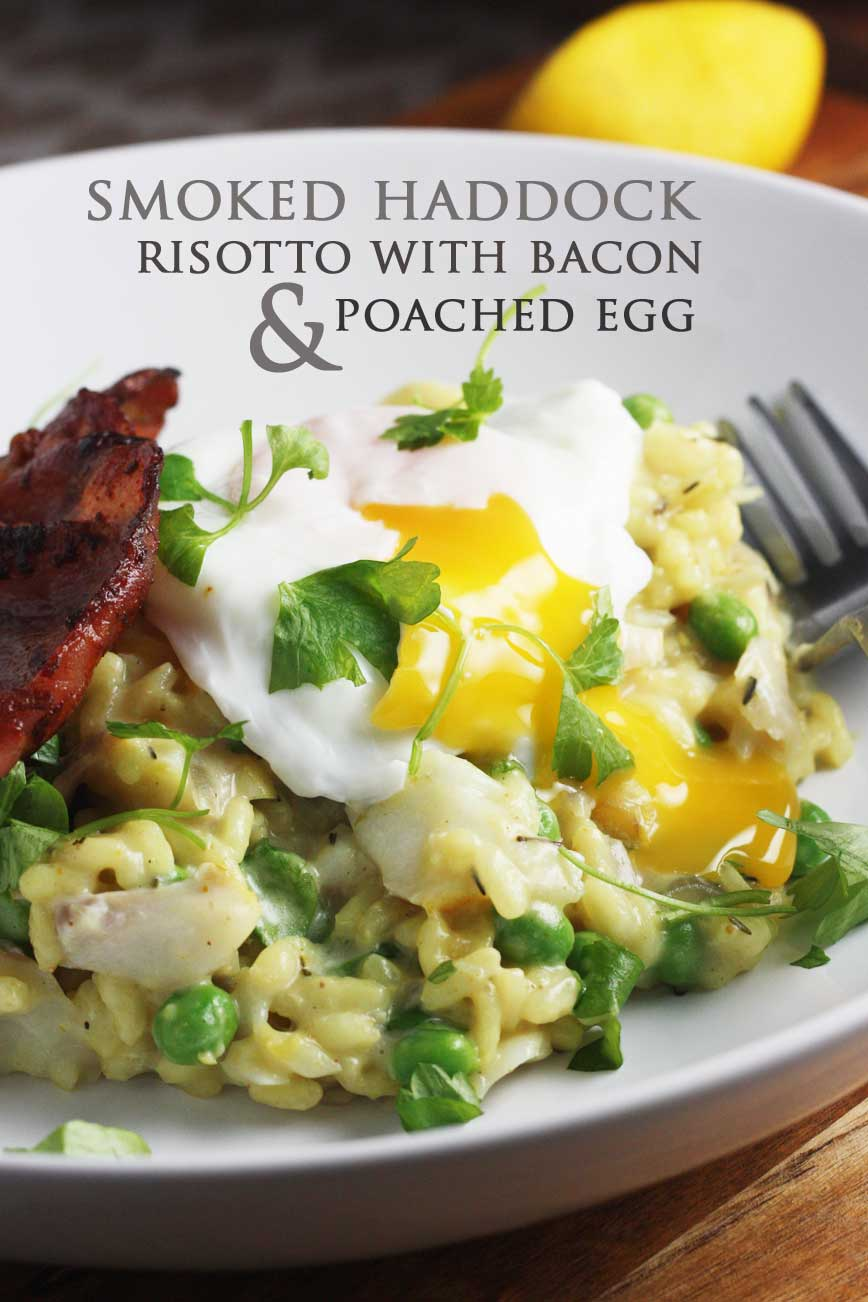 Bacon And Leek Risotto With Poached Egg Recipe — Dishmaps