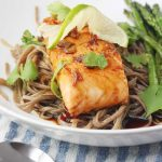 Maple teriyaki salmon with soba noodles by Scrummy Lane