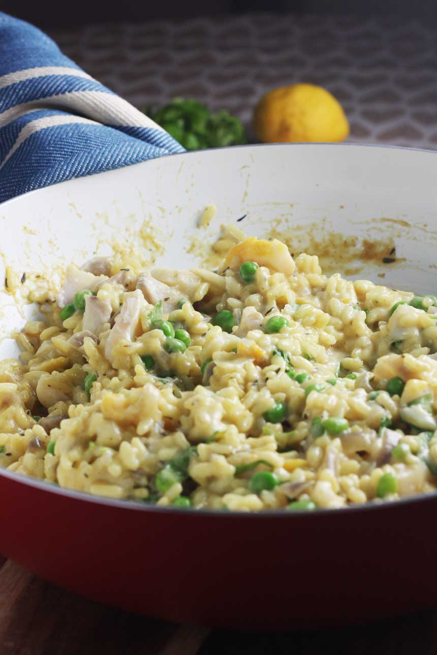 Smoked fish risotto
