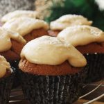gingerbread muffins with salted caramel frosting