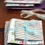 Homemade gift idea: easy notebook trio