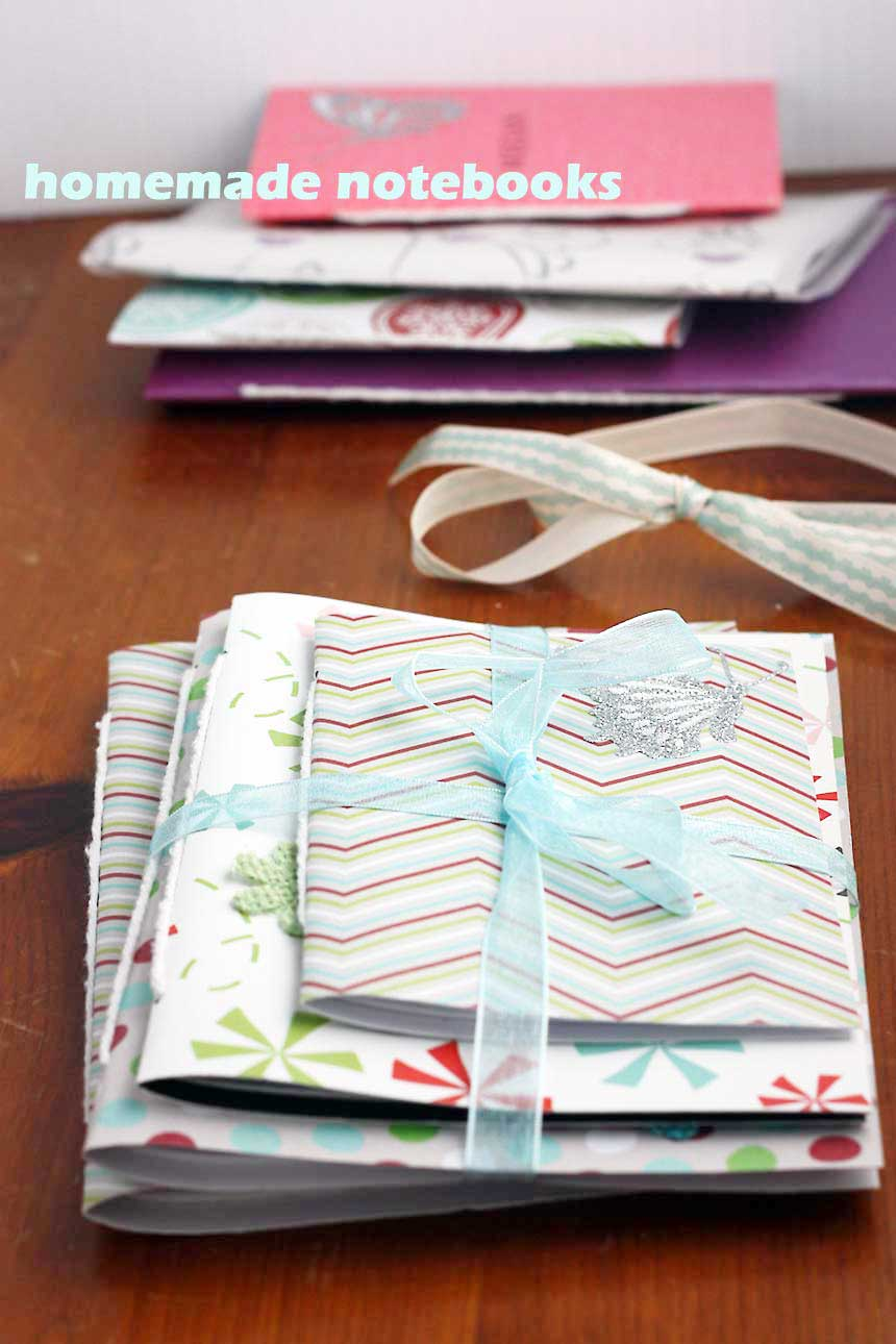 homemade gift: trio of notebooks