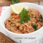Sweet roasted red pepper & eggplant dip