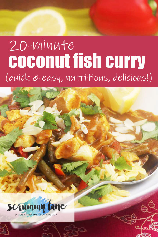 A bowl of coconut fish curry