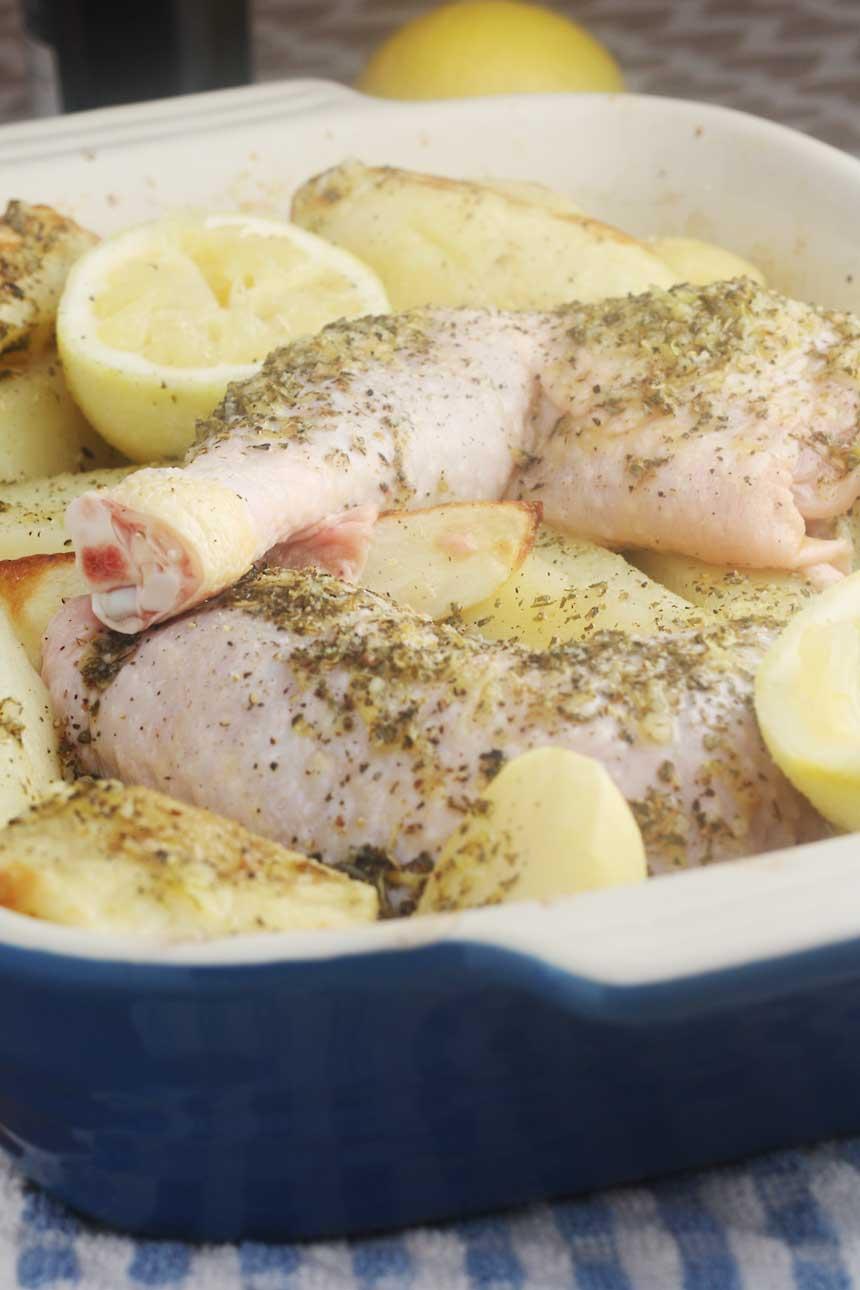 Greek lemon & oregano chicken with crispy potatoes