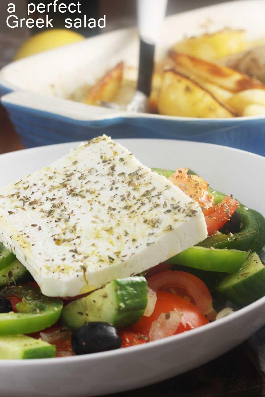 A perfect Greek salad